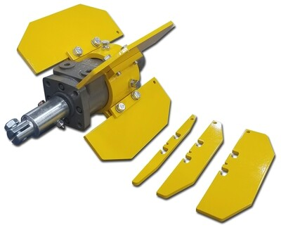 Heavy Duty Mainline Root Cutter with Speed Skid Collar and Skid Kit Assembly