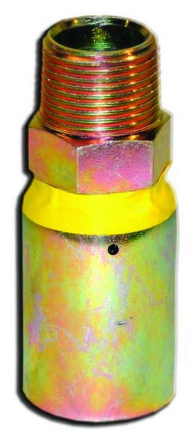 "Piranha® Armor Belt Male Hose End - [1"" Male NPT - Orange 2500 PSI]"
