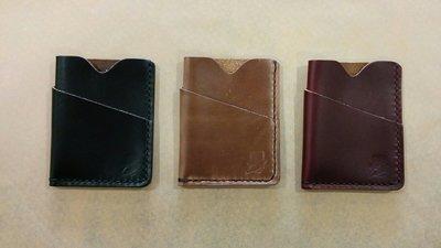 Popov Leather Card Holders w/ Bill Pocket