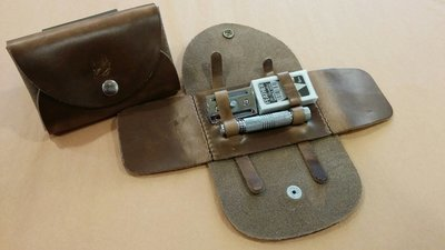 Popov Leather Razor Travel Case