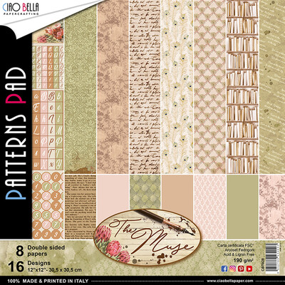 CIAO BELLA The Muse 12x12 Patterns Pad (8 pack)