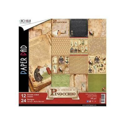 CIAO BELLA Avventure Di Pinocchio 12x12 Paper Pad