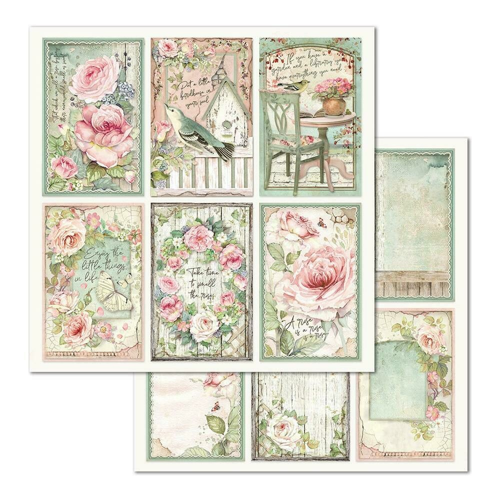 STAMPERIA HOUSE OF ROSES 12x12 SINGLE SHEET - FRAMES