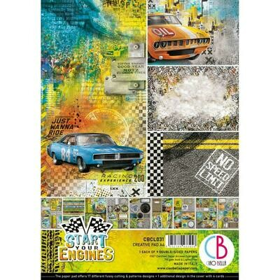 CIAO BELLA Start Your Engine A4 Creative Pad
