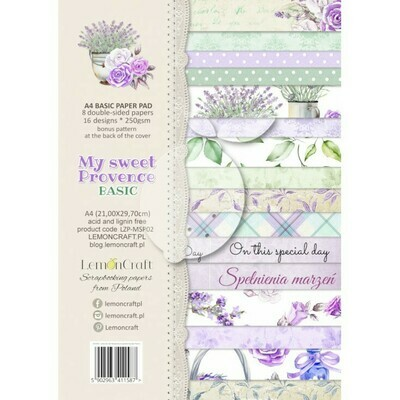 My Sweet Provence Basic A4 Paper Pad