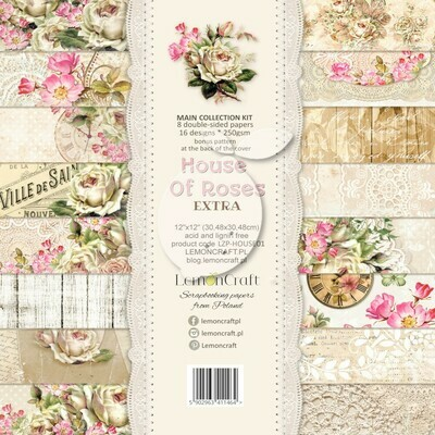 House of Roses EXTRA 12x12  Paper Set