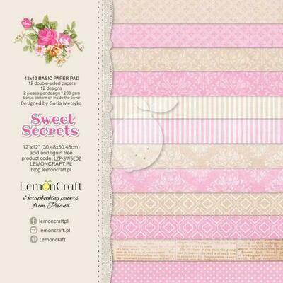Sweet Secrets 12x12 Basic Paper Pad
