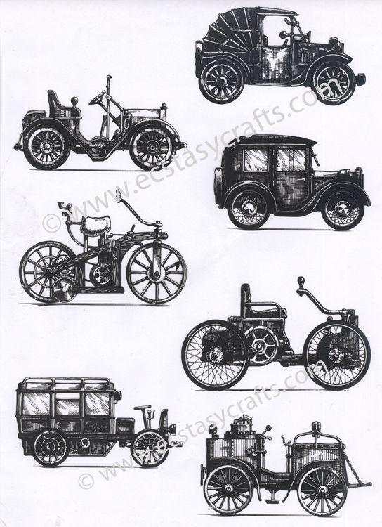 Joy! Crafts - Retro Cars