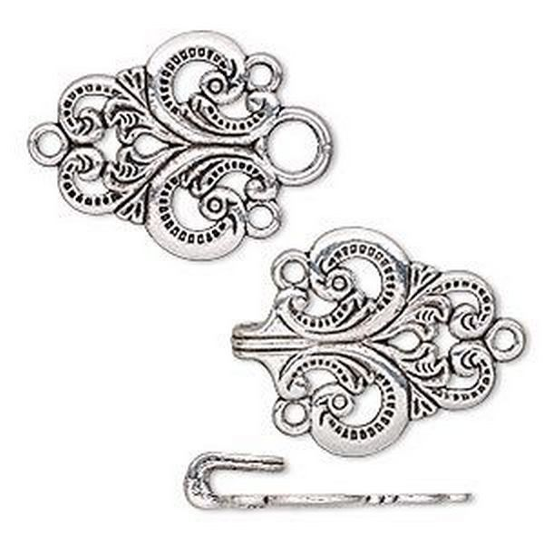 Antique Silver Toggle Clasps