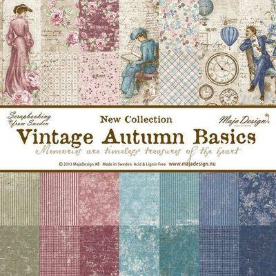 Vintage Autumn Basics 6x6 Paper Stack