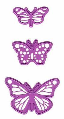 Three Butterflies die set