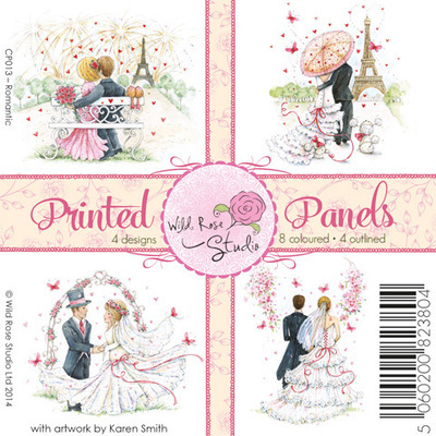 Romantic Printed Panels