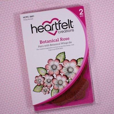 Botanical Rose Cling Stamp set