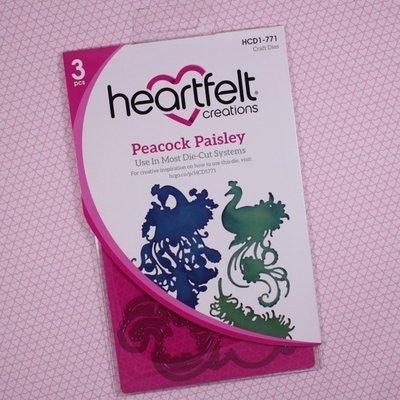 Peacock Paisley die set