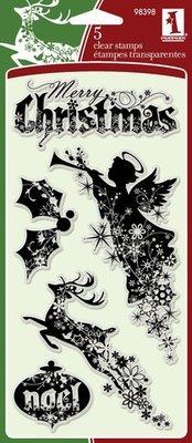 Inkadinkado Clear Stamp Set - Christmas Silhouettes