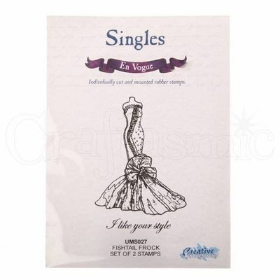 Rubber Cling Stamp - Fishtail Frock