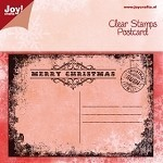 Christmas Postcard Clear Stamp
