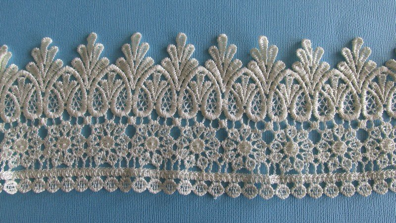 Embroidered Victorian Venice Lace - Rich Cream