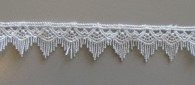 Fringe Lace - White