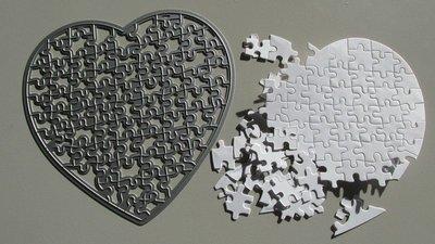 Heart Jigsaw die