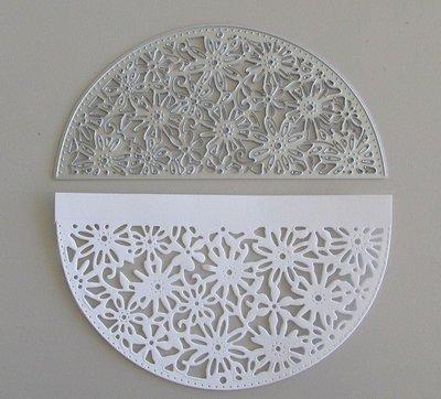 Semi Circle Flower Frame die