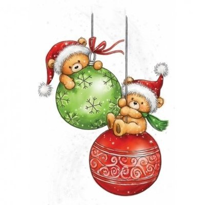 Teddy Baubles Clear Stamp