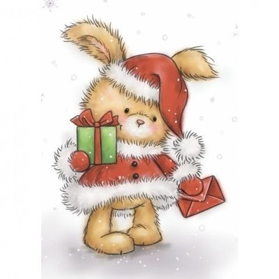 Christmas Bunny Clear Stamp