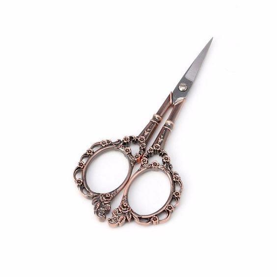 "Stainless Steel Vintage Style Scissors 4.5"""