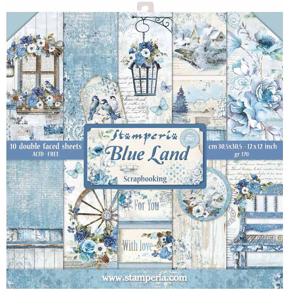 STAMPERIA BLUE LAND 12x12 Paper Set