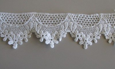 Flower Lattice Lace - White