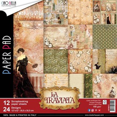 CIAO BELLA La Traviata 12x12 Paper Pad (12pack)