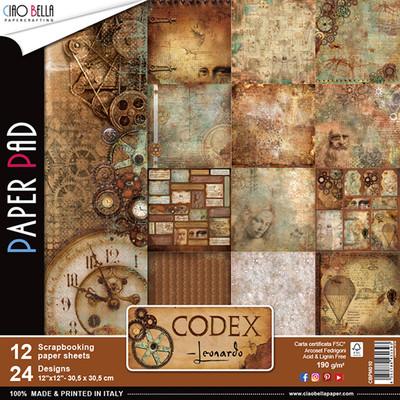 CIAO BELLA Codex Leonardo 12x12 Paper Pad
