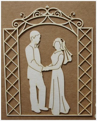 Bride & Groom 1chipboard