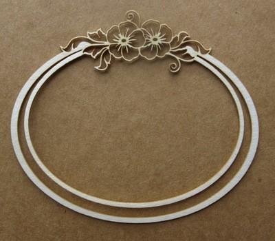 Oval Floral Frame 2