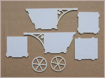 Wheelbarrow with a Decorative Handle