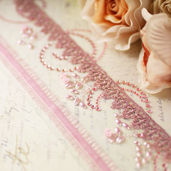 Prima - Say It In Crystals Collection Ribbon Border - Click to Select
