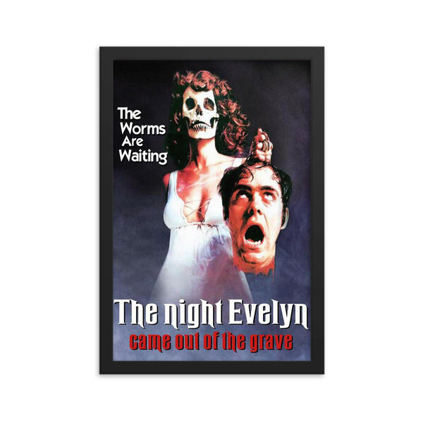 """12"""" x 18"""" The Night Evelyn Came Out of the Grave Framed Movie Poster"""