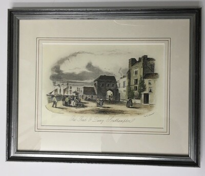 Southampton Gaol & Quay (Antique engraving)