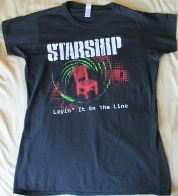 Starship - Layin' It On The Line World Tour T-Shirt (Black) (Women's)
