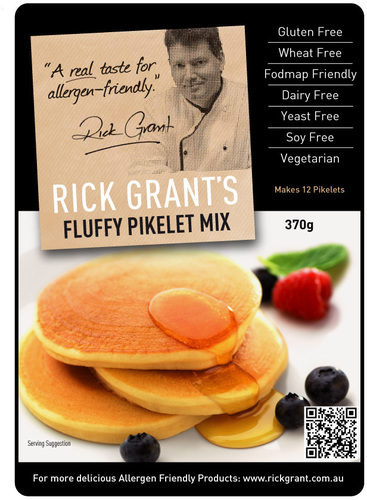 Fluffy Pikelet Mix - Gluten Free and Fodmap Friendly. These light and fluffy Pikelets are unlike any other pancake offering as they are fluffy not 'hockey pucks'!