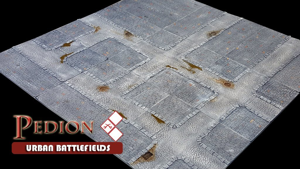 """""""Town"""" 3'x3' Urban Battlefield Set - Kickstarter Preorder"""