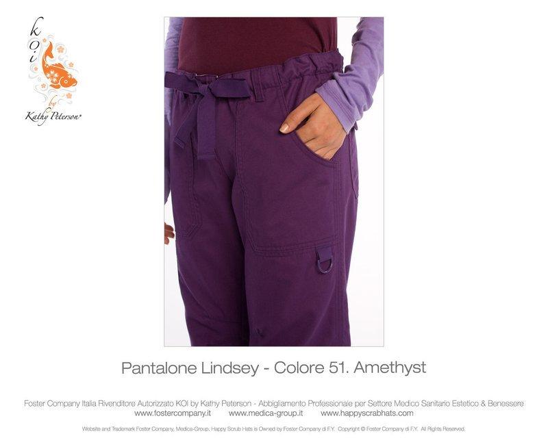 Pantalone KOI CLASSICS LINDSEY Donna Colore 51. Amethyst- FINE SERIE