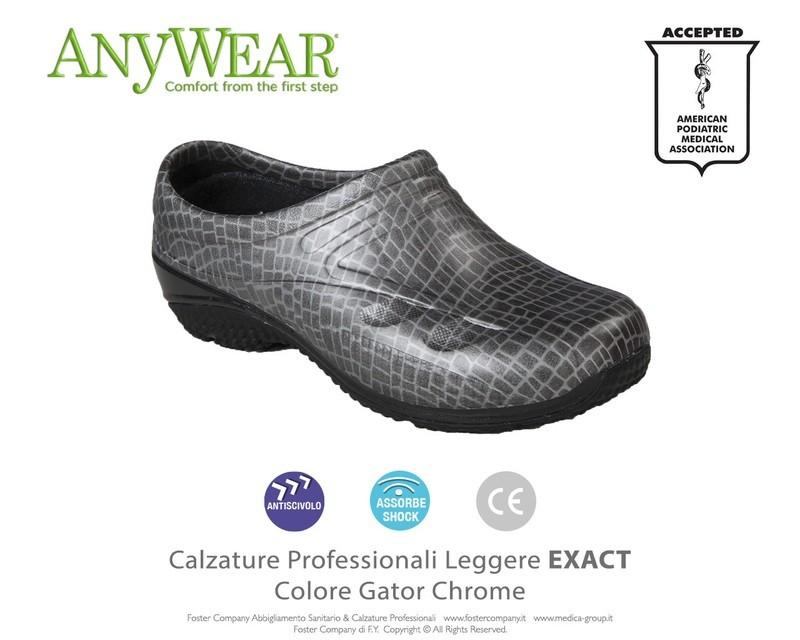 Calzature Professionali Anywear EXACT Colore Gator Chrome