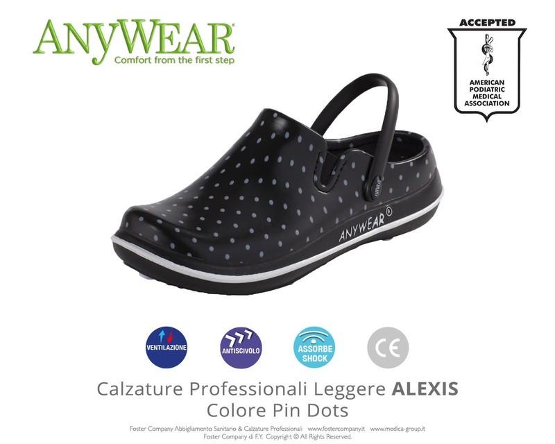 Calzature Professionali Anywear ALEXIS Colore Pin Dots