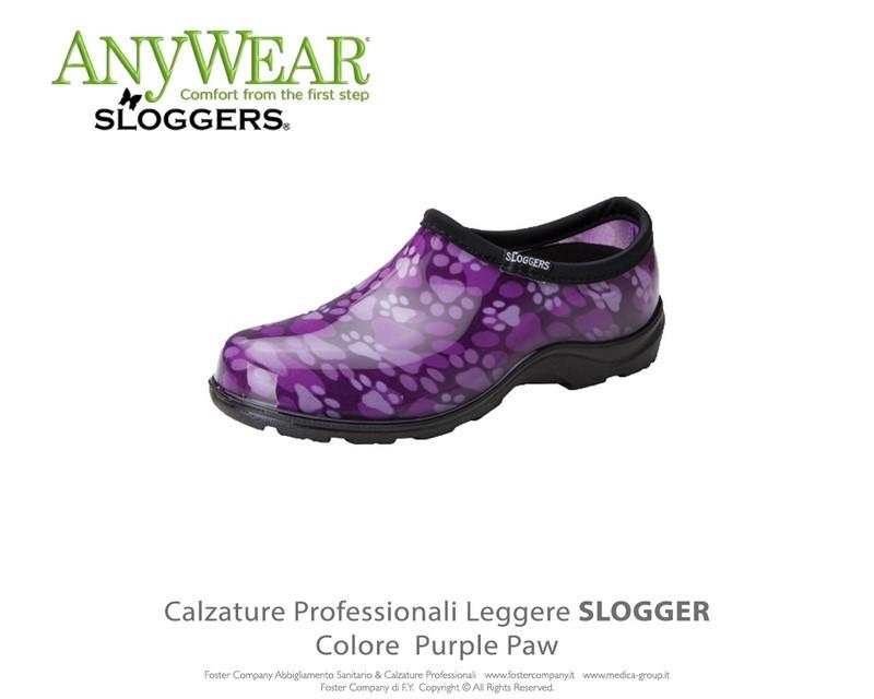 Calzature Professionali Anywear SLOGGER Colore Purple Paw ULTIMI NUMERI