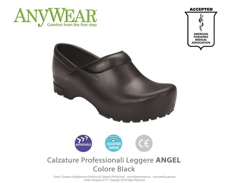 Calzature Professionali Anywear ANGEL Colore Black