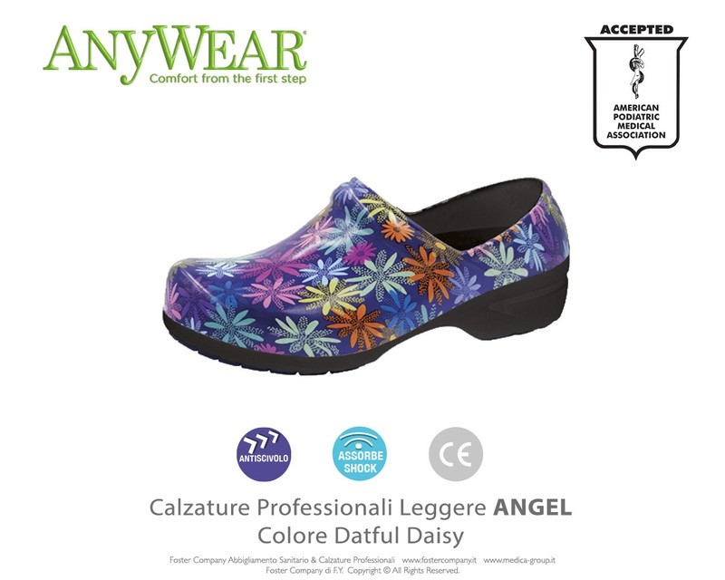 Calzature Professionali Anywear ANGEL Colore Datful Daisy