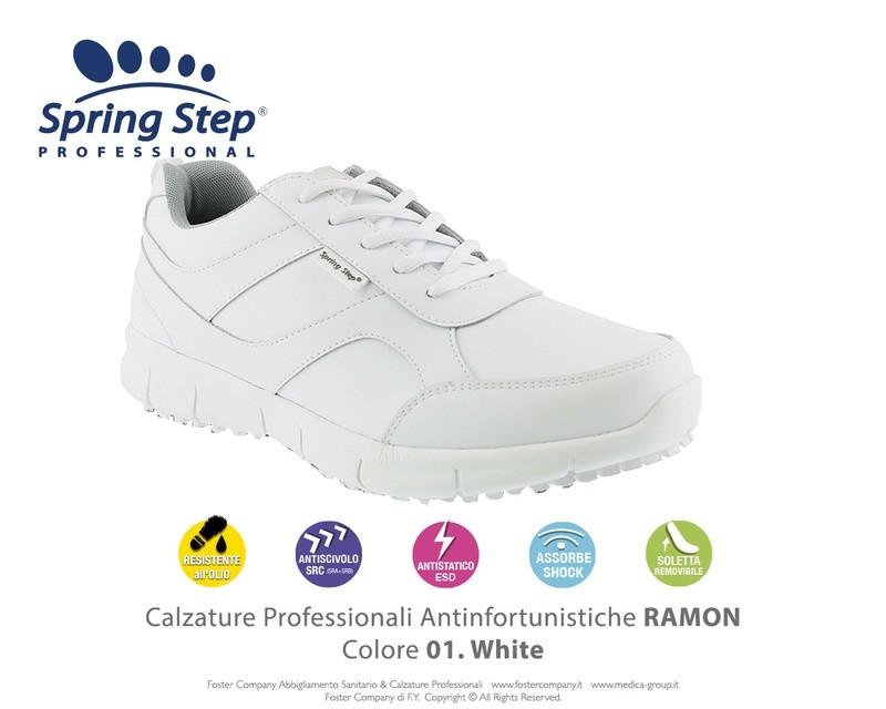 Calzature Professionali Spring Step RAMON Colore 02. White