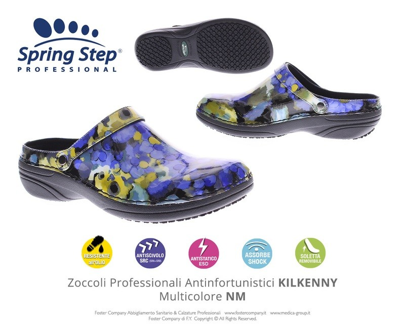 Zoccoli Professionali Spring Step KILKENNY Multicolore NM
