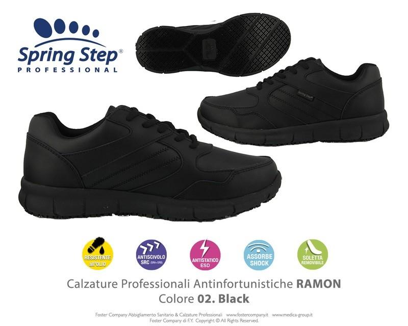 Calzature Professionali Spring Step RAMON Colore 02. Black